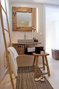 Bambusový žebřík židlička Ze Starého Dubového Dřeva