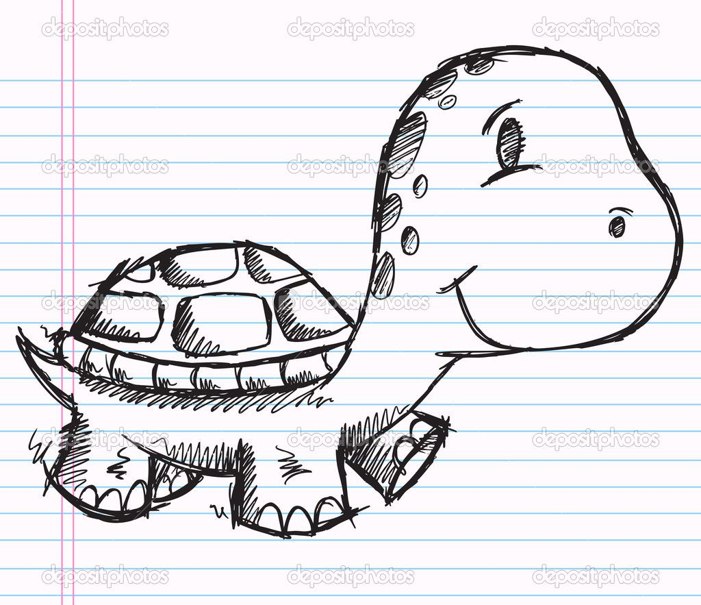 notebook doodle | Notebook Doodle Sketch Turtle | Stock Vector ...