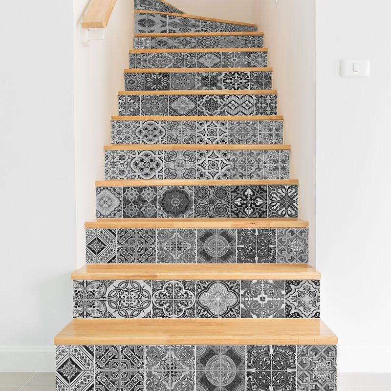 Arla Tiles Wall Decal Stair Decals Wall Tiles Vibrant Tile