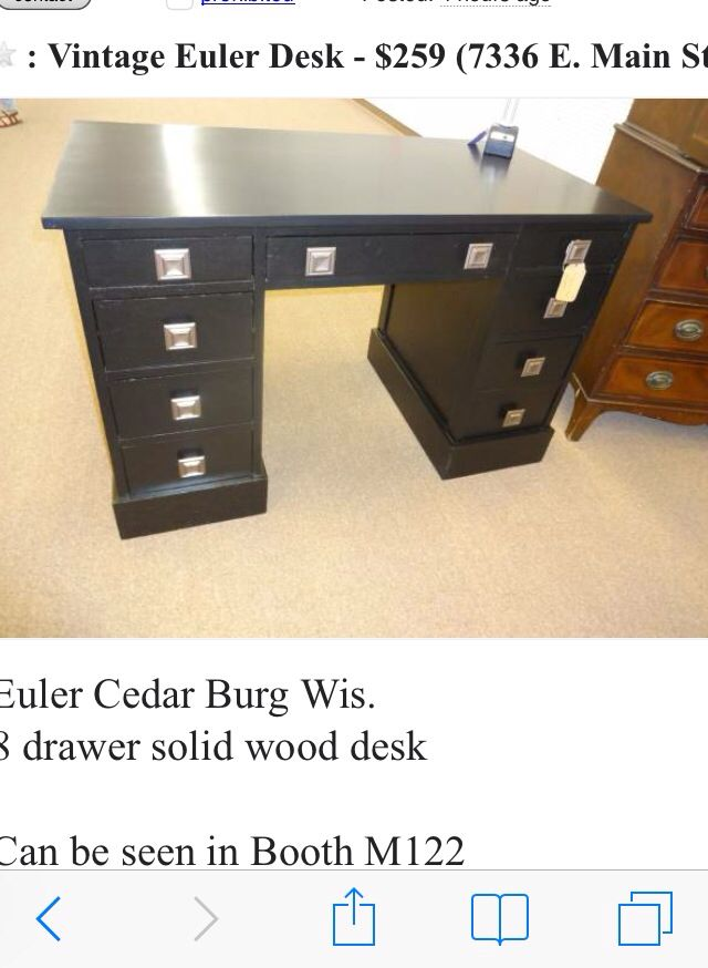 Antique Euler Desk for sale! Can be seen at Main Street Antique Row.  Pottery Barn Style! - SOLD!!!! Antique Euler Desk For Sale! Can Be Seen At Main Street