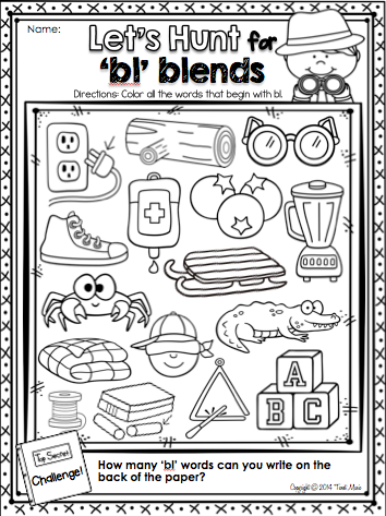freebie teach the blend 39 bl 39 with this easy to use fun and interactive printables package 20. Black Bedroom Furniture Sets. Home Design Ideas