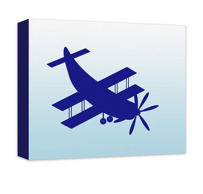 Biplane Aircraft Children's Airplane Canvas Wall Art