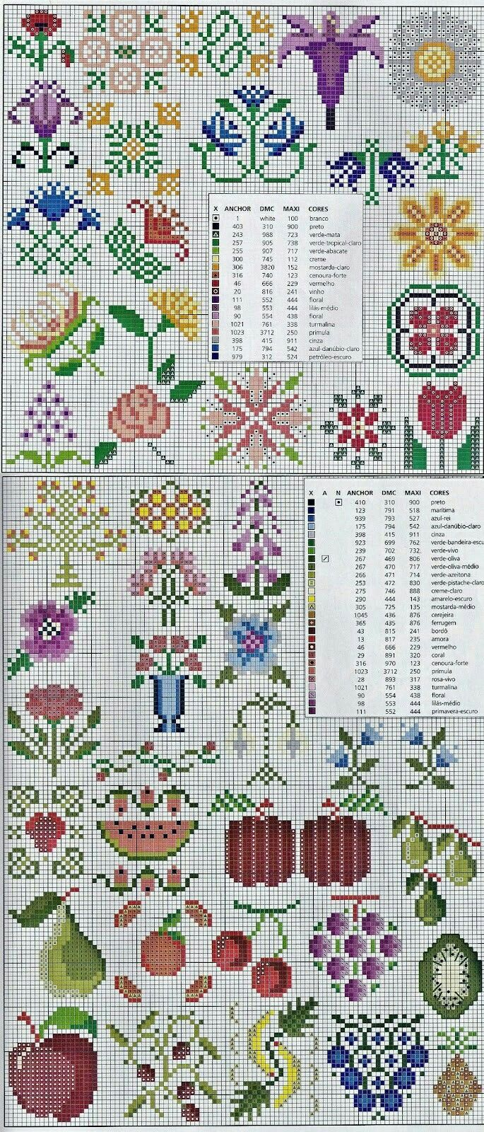 Cross stitch - fruits & flowers