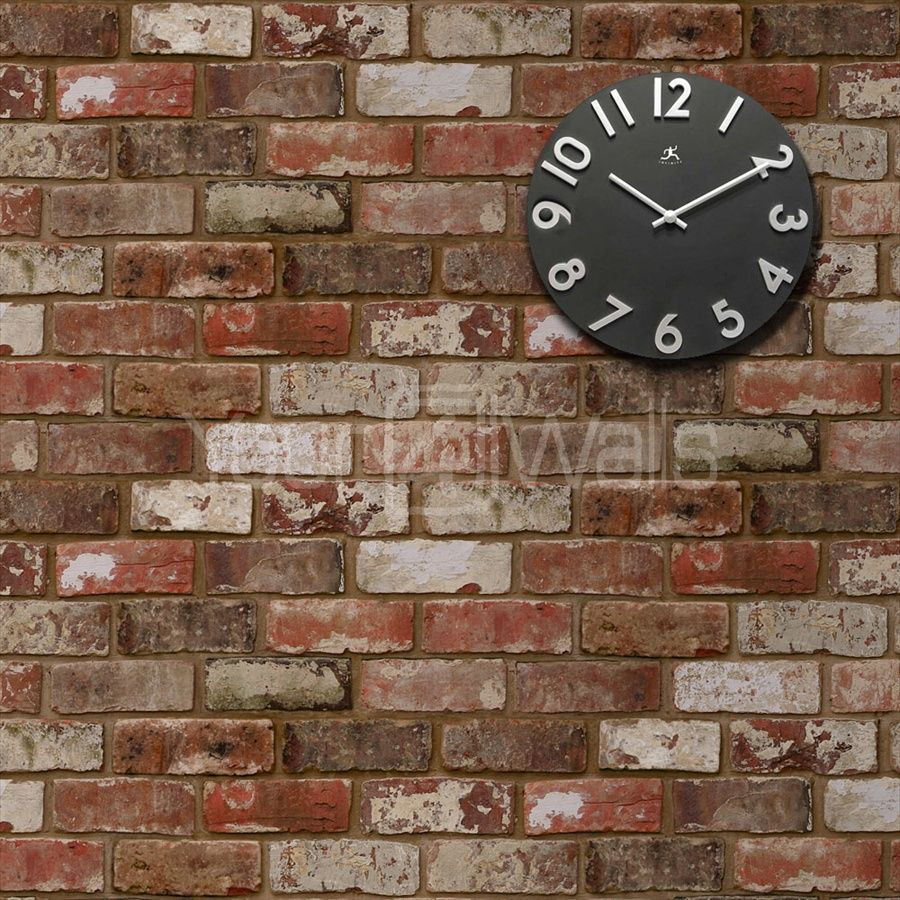 Lowry brick effect wallpaper red office space design for Brick wallpaper office