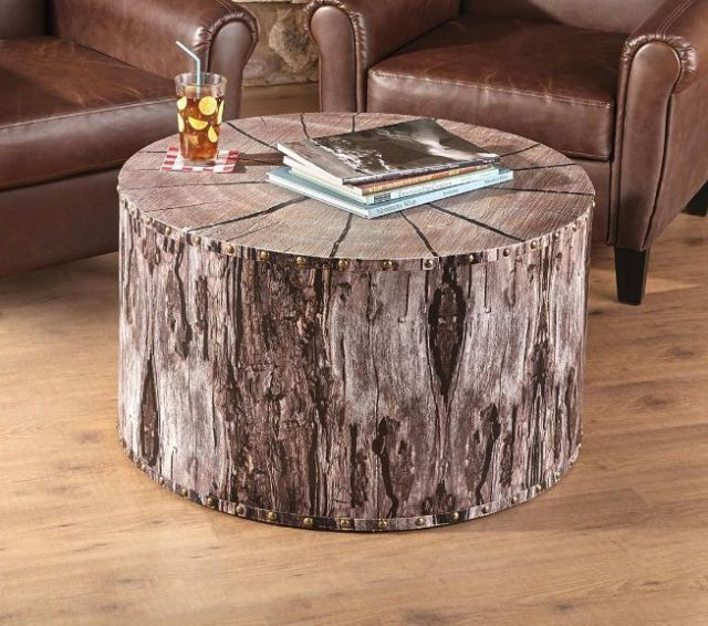 Dining Room Stylish Natural Wood Coffee Tables Rustic: TREE STUMP / TRUNK COFFEE TABLE NATURAL RUSTIC WOOD LOOK