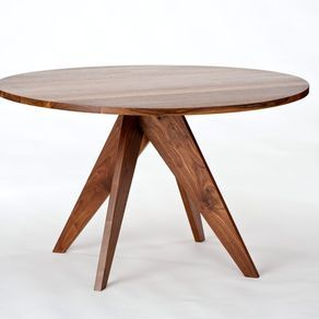 Round Dining Table Walnut By Randy Hornman Walnut Dining Table