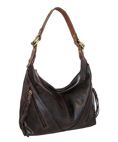 Look what I found on #zulily! Chocolate Rodeo Leather Hobo #zulilyfinds