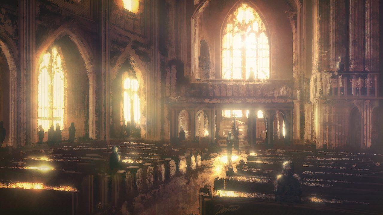 Speedpaint: Church Interior by inetgrafx | Church interior ...
