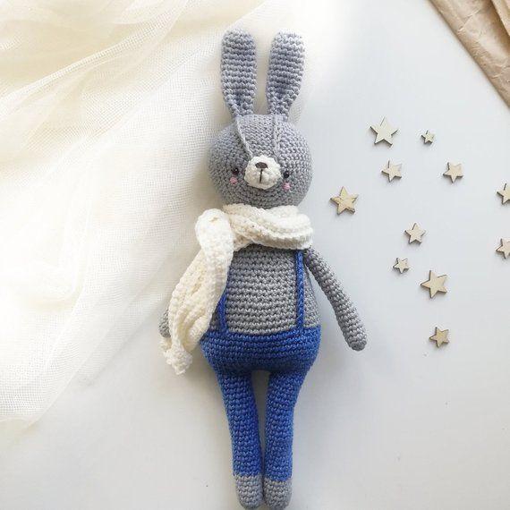 Crochet rabbit PATTERN/Amigurumi bunny toy pattern PDF/Amigurumi animal pdf/Crochet toy tutorial/Cute crochet pattern/Amigurumi crochet #crochetbunnypattern