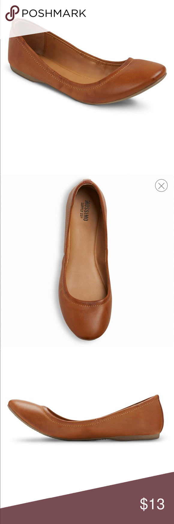 EUC MOSSIMO ONA SCRUNCH BALLET FLAT COGNAC sz 9.5 EUC MOSSIMO SCRUNCH BALLET FLAT IN COGNAC sz 9.5. Round-toed ballet flat, Luxe faux leather upper, Convenient slip-on styling, Cushioned insole, durable outsole Mossimo Supply Co. Shoes Flats & Loafers