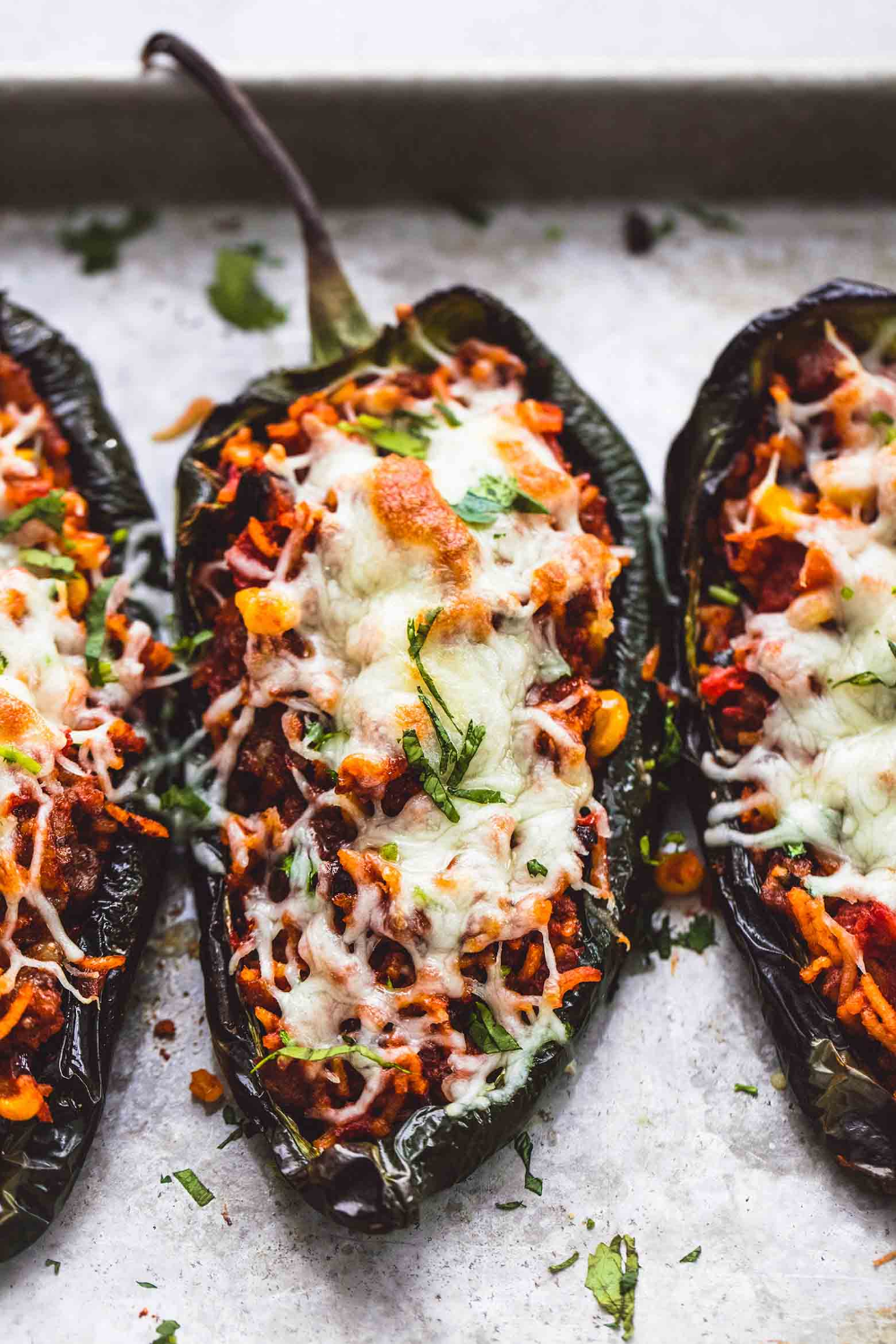 Southwest Stuffed Poblano Peppers Creme De La Crumb Stuffed Peppers Poblano Peppers Recipes Stuffed Poblano Peppers