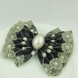 Sweet Faux Pearl Embellished Bowknot Shape Hair Clip For Women (AS THE PICTURE) China Wholesale - Sammydress.com