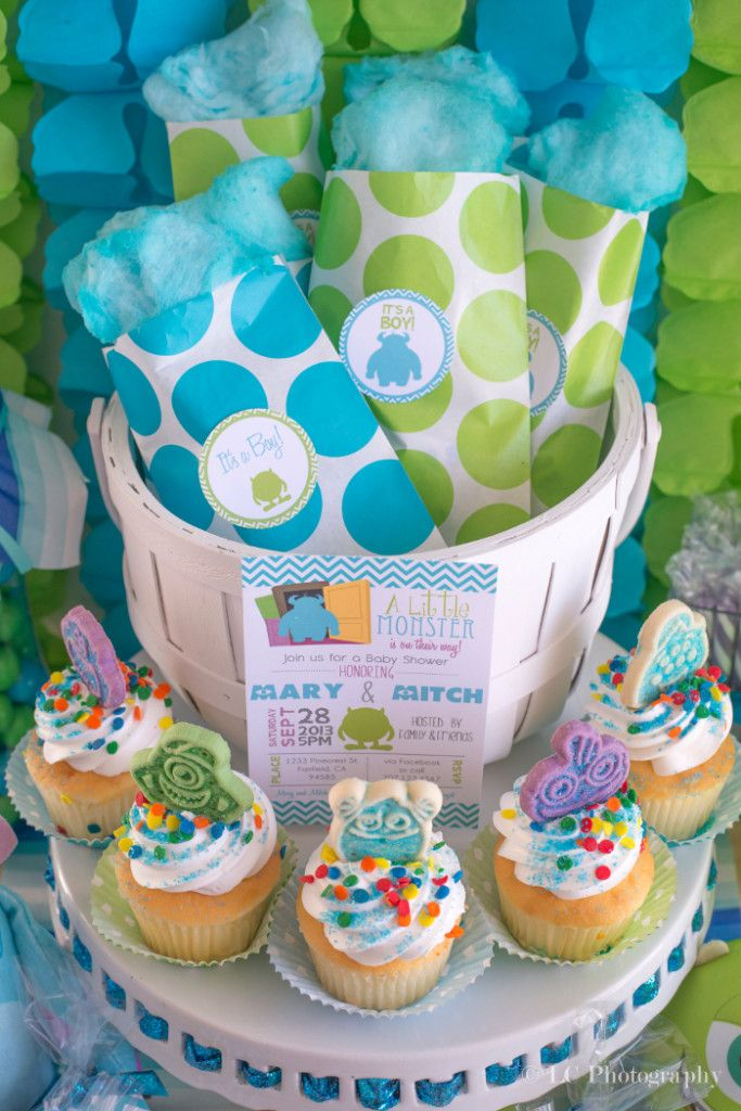 Sully Fur Monsters Inc Baby Shower Food Ideas Pinkducky