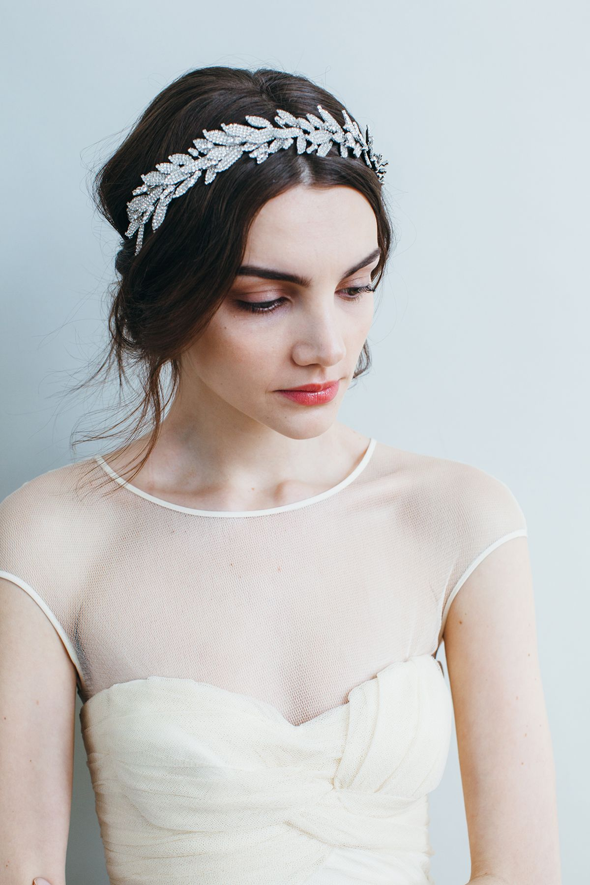arielle crown headpiece // swarovski crystal // handmade in new york