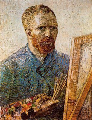 Vincent Van Gogh: Autorretrato delante del caballete, 1887.