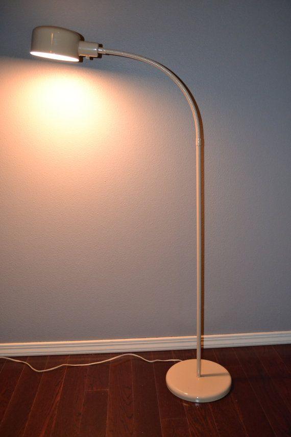 Antique Mid Century Modern Gooseneck Floor Lamp Vintage Lighting