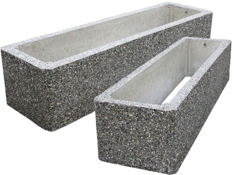 Where To Buy Concrete Planters Part - 26: Large Concrete Planters For Commercial And Municipal Applications - Round,  Square And Rectangular Designs.