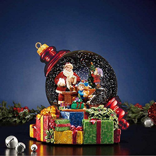 Santa Waterglobe With Led Lights Snow Https Www Amazon Com Dp B01lzq33nu Ref Cm Sw R Pi Dp U X Oo3 Snow Globes Christmas Snow Globes Christmas Light Ornament
