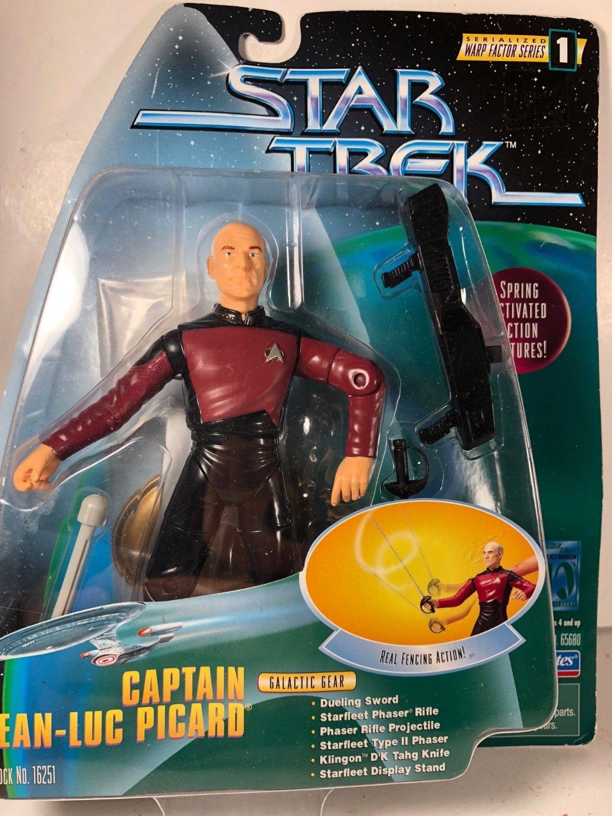 d986f8af70ddf Vintage Star Trek Captain Jean-Luc Picard 1997 Playmates Warp Factor Series