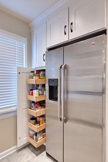 Maybe Put Tall Narrow Pantry Next To Fridge In Place Of Pan
