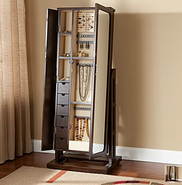 Amazing Oh Me Oh My: Standing Mirror Jewelry Armoire
