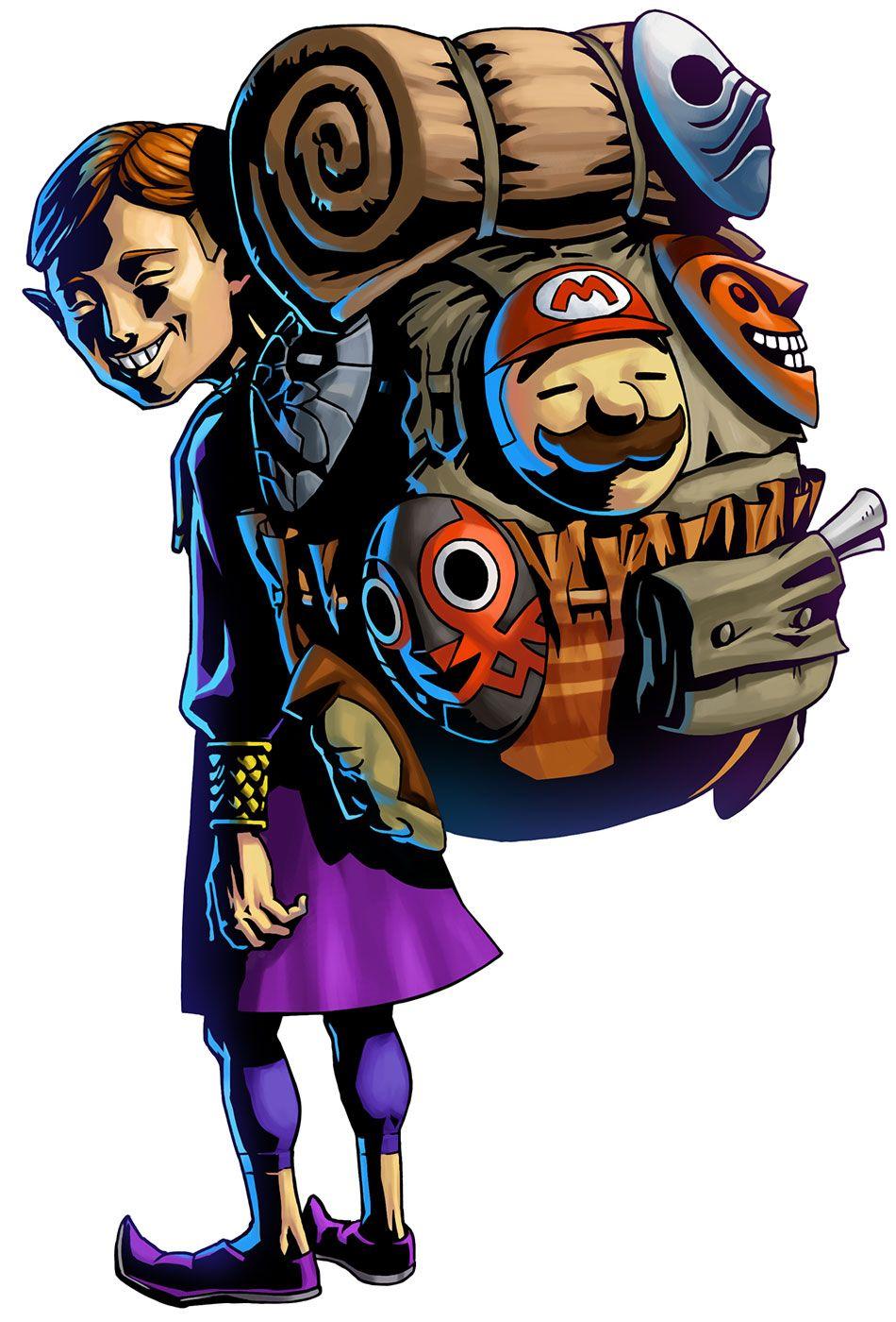 Happy Mask Salesman With Images Majoras Mask Art Zelda Art