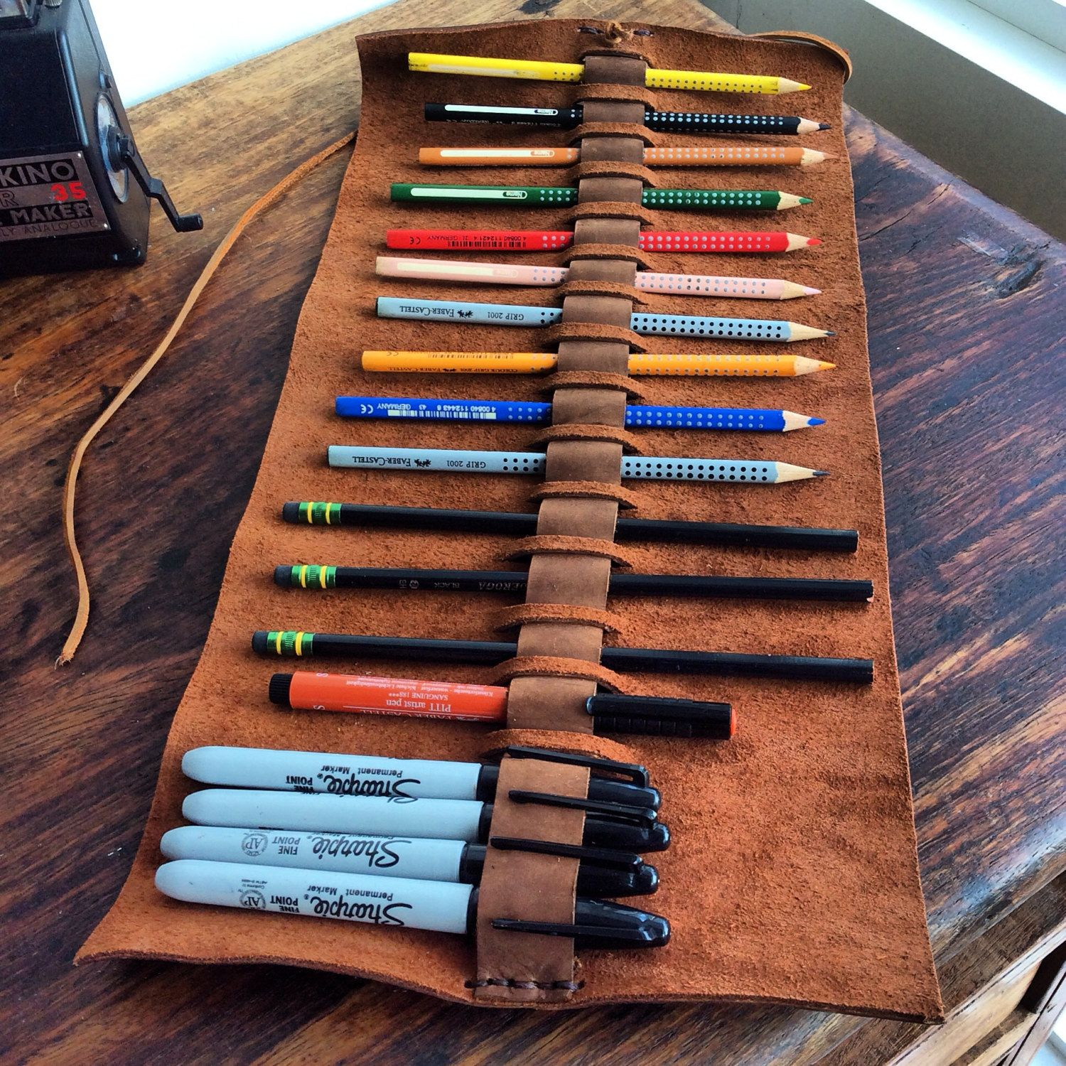 Architectural Drawing Holders pen case holder, personalized pencil case, handmade unique pencil