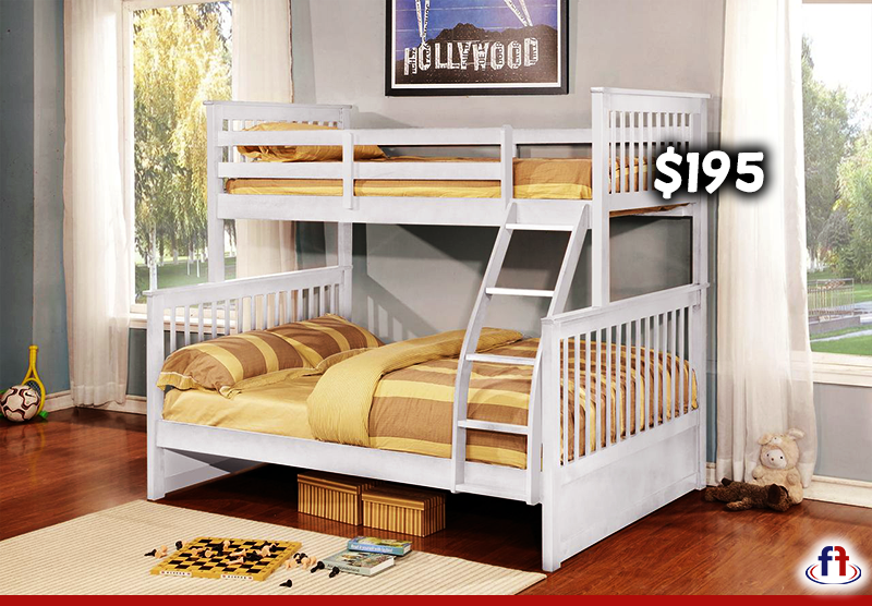 Paloma White Twin Full Stackable Bunk Bed BUNKBED