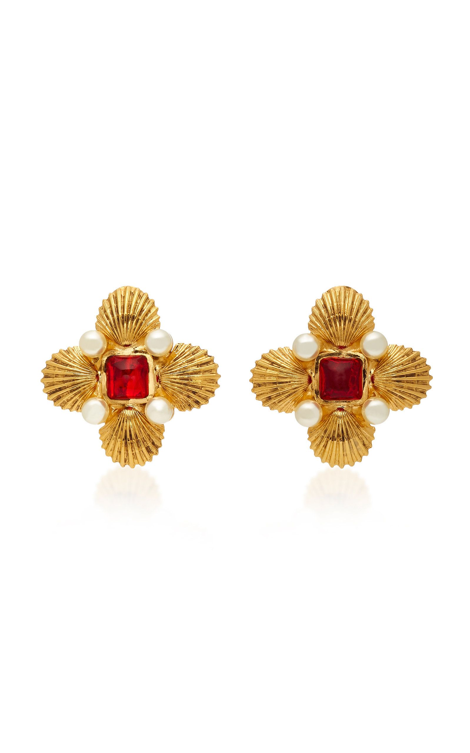 bead yossi earrings harari von bargen gold double roxanne jewelry product s