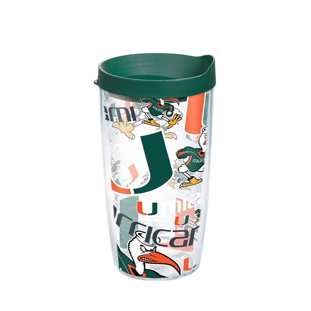 9708e53df62 Tervis Miami Hurricanes All Over 16oz Tumbler with lid | Products ...