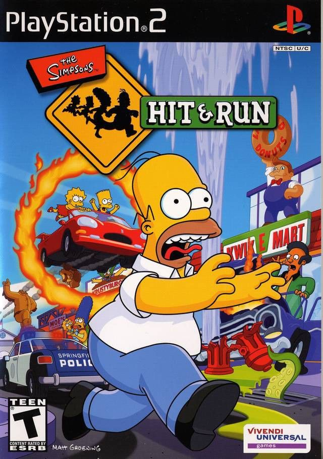 Simpsons Hit Run Playstation 2