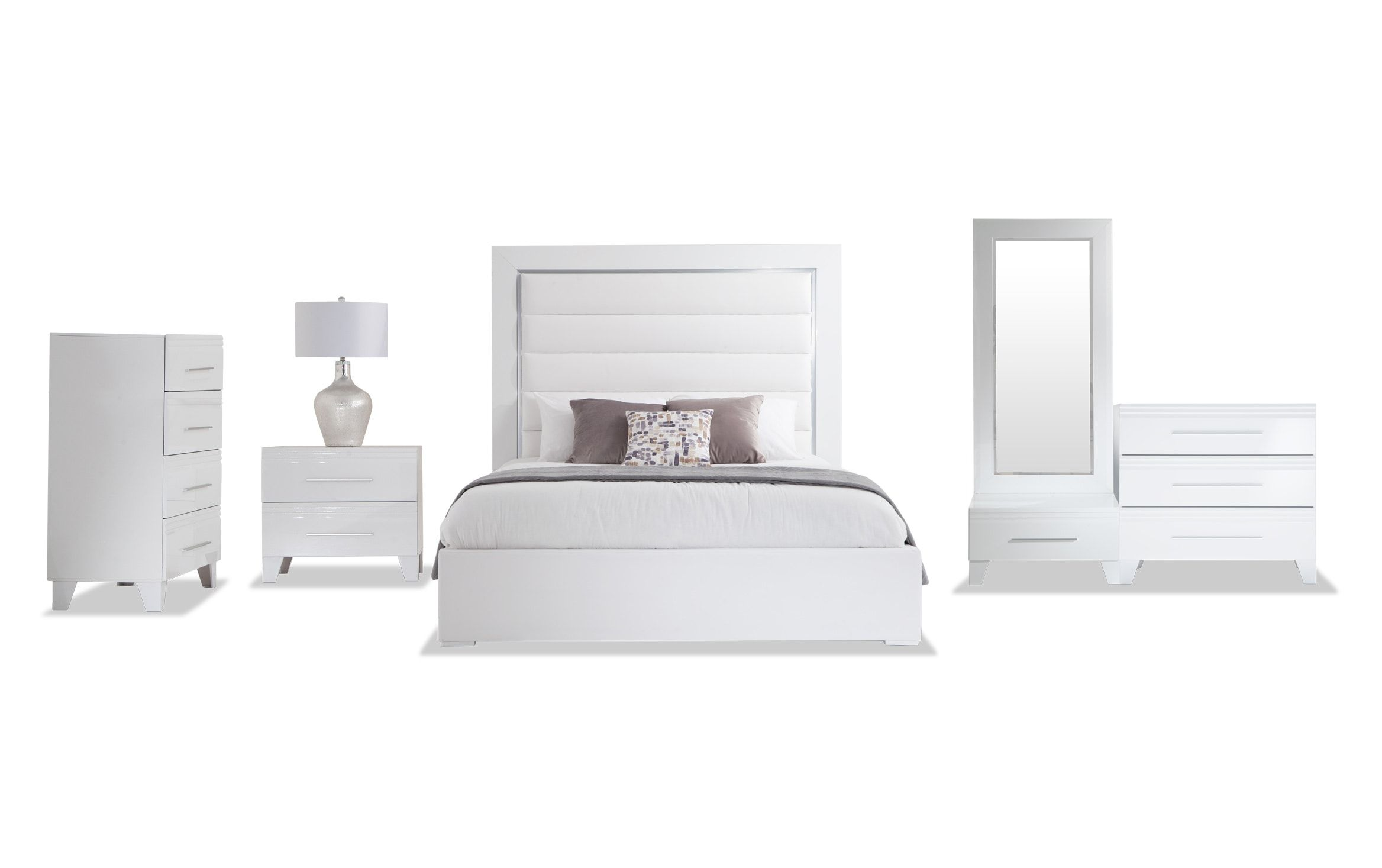 amalfi king white bedroom set bobs