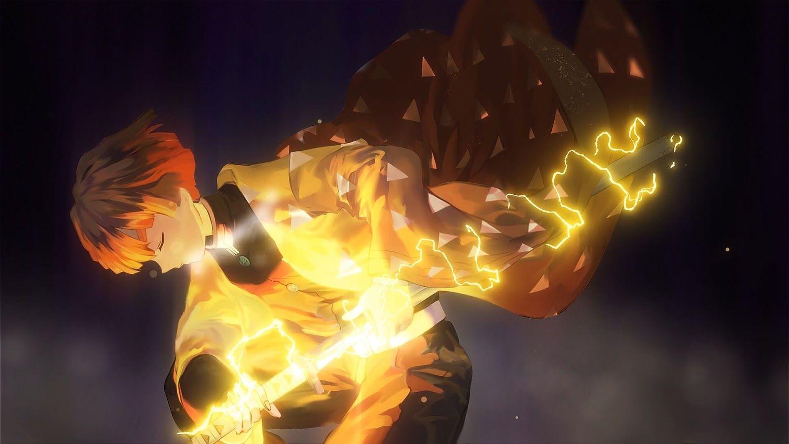 Zenitsu Kimetsu no Yaiba [Wallpaper Engine Anime] Seni