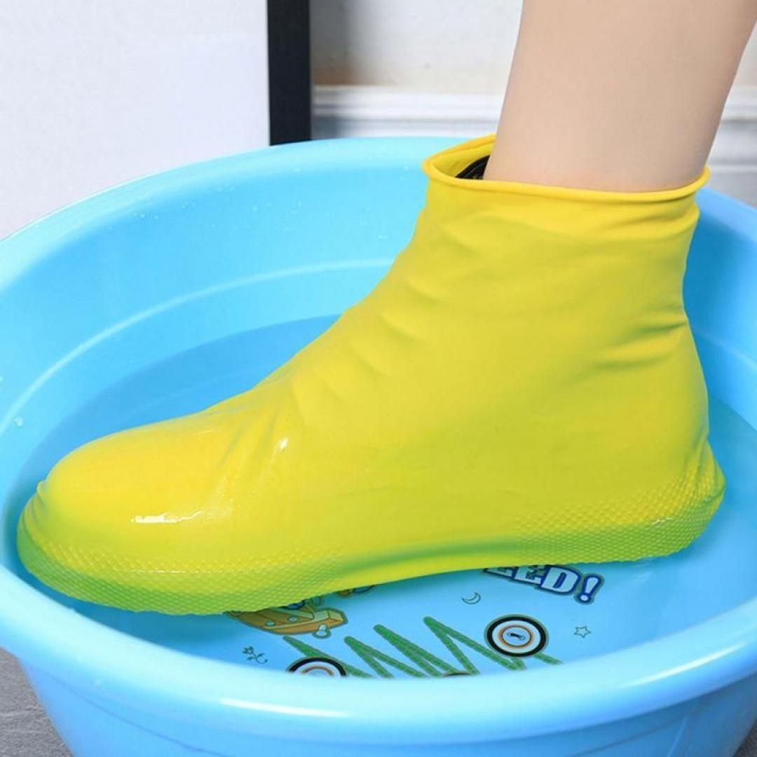 Reusable Waterproof Shoe Covers Rain Boots Anti-slip Shoes Cycling Overshoes