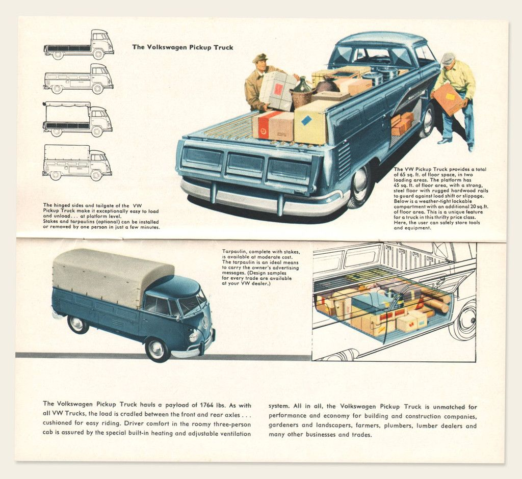 1958/59 Volkswagen Bus Brochure | Volkswagen bus, Volkswagen, Commercial  vehicle