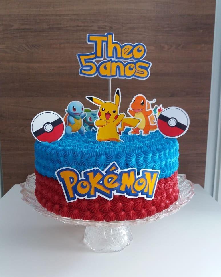 Pleasing Bolo Pokemon 80 Modelos Dicar E Ideias Especiais E Inspiradora Funny Birthday Cards Online Eattedamsfinfo