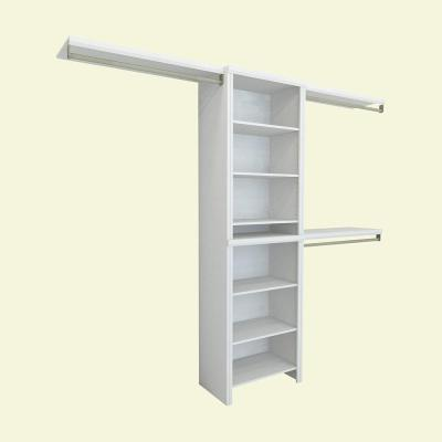 Closetmaid 17 In D X 21 In W X 27 In H Shelftrack 4 Drawer Kit Steel Closet System In White 2815 Wood Closet Systems Closet System Closet Kits