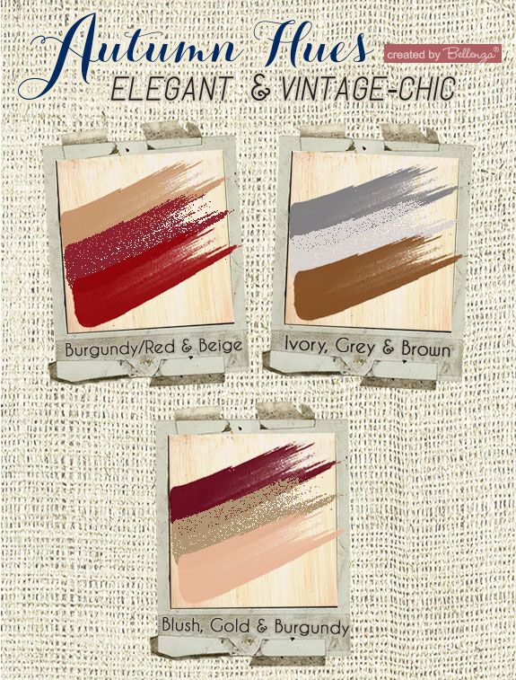 10 Dazzling Fall Color Palettes to Suit Your Wedding Style Red