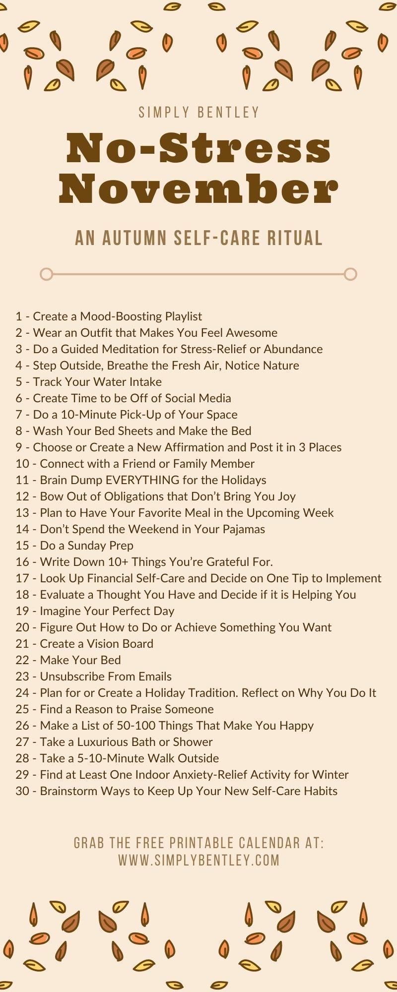 No-Stress November: An Autumn Self-Care Ritual