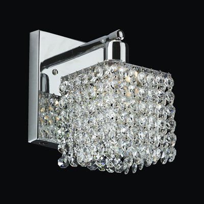 Glow Lighting 7w1lsp 708c 7c Fuzion 5 In Crystal Wall Sconce This