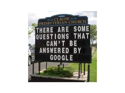 There are some questions that can not be answered by Google.