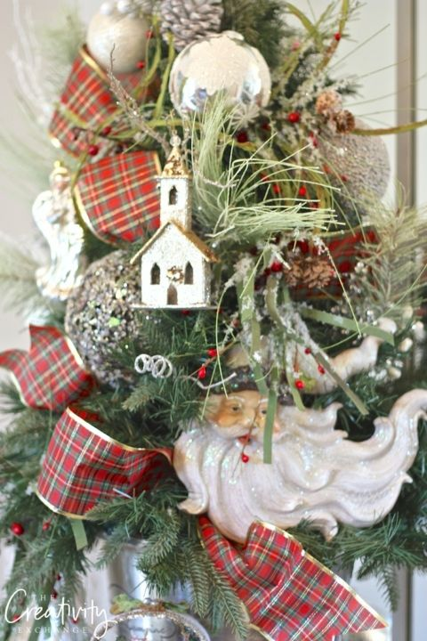How to work ribbon into Christmas trees Christmas Pinterest