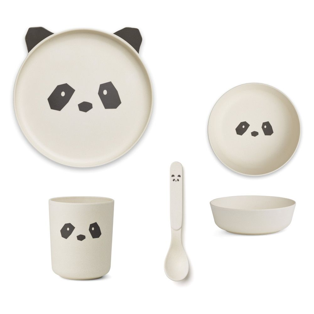 Panda Bamboo Esslern Set Mit Bildern Kinder Geschirr Kindergeschirr Geschirrset