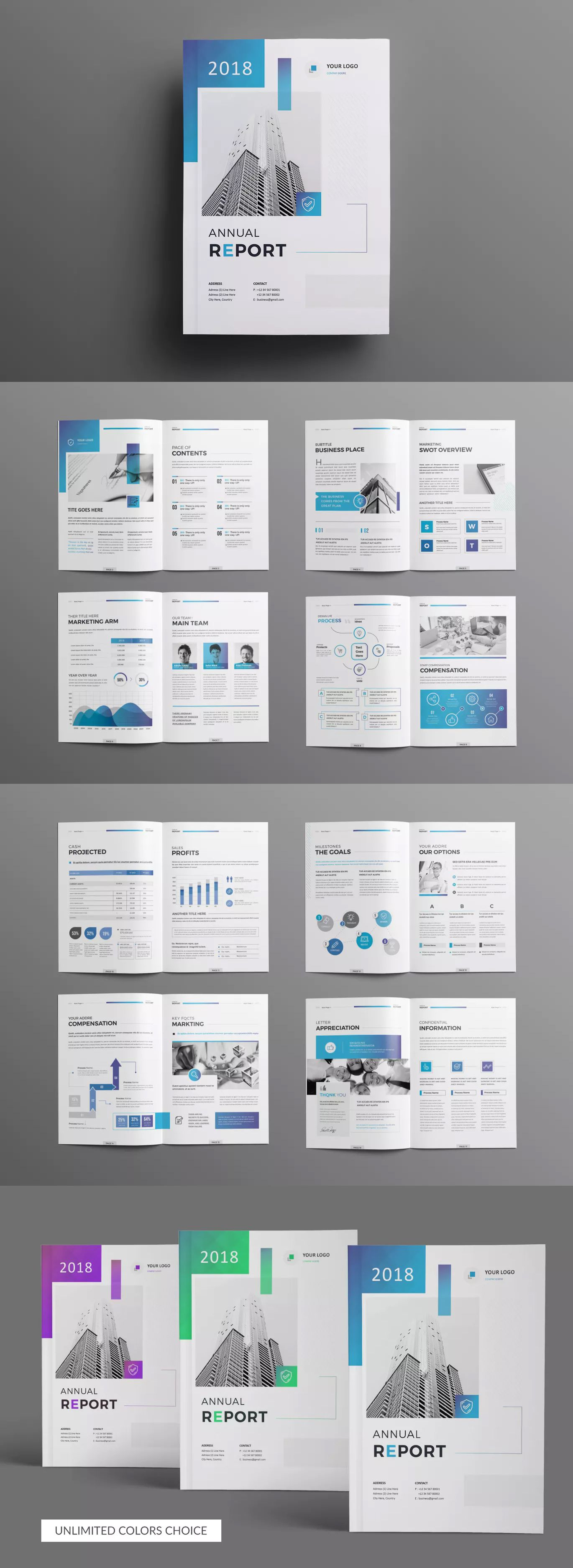 The Annual Report Template InDesign INDD - A4 - 18 Pages #annualreports