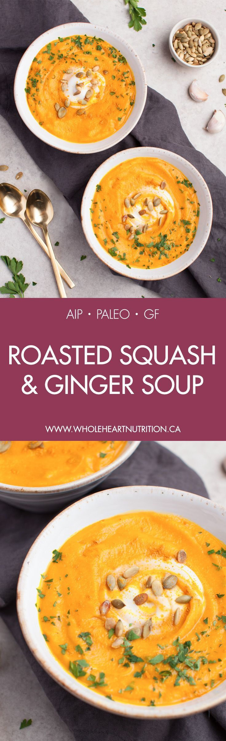 Roasted Squash Ginger Soup Recipe Healthy Soup Recipes Roasted Squash Paleo Recipes