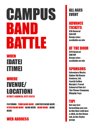 Event Flyer Bold Organization Of Work And Life Pinterest