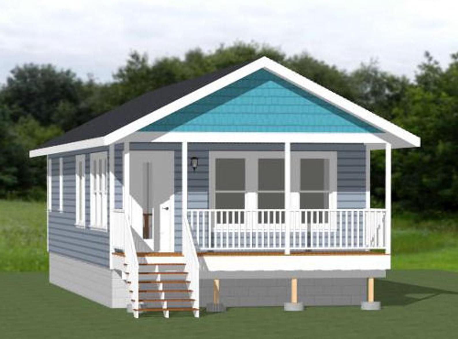 18x40 House 1 Bedroom 1 Bath 720 sq ft PDF Floor Plan