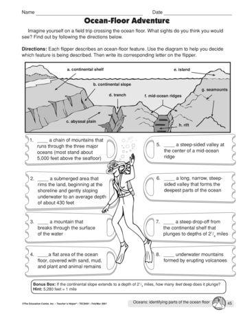 Ocean Floor Adventure Worksheet Answers