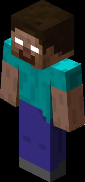File Herobrine Png Minecraft Minecraft Steve Cool Paper Crafts