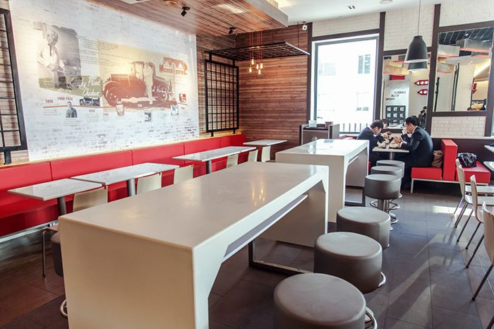 Kfc mongolia seating zones interior design for the 3rd for International seating decor
